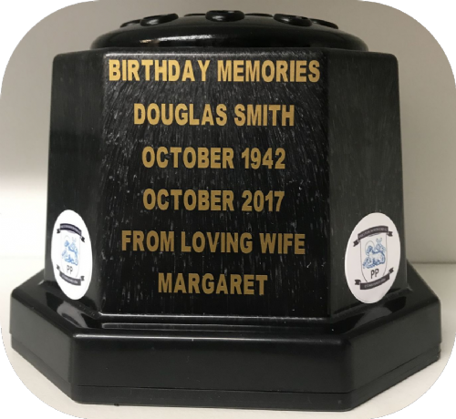 Preston North End  F. C. football personalised Grave pot